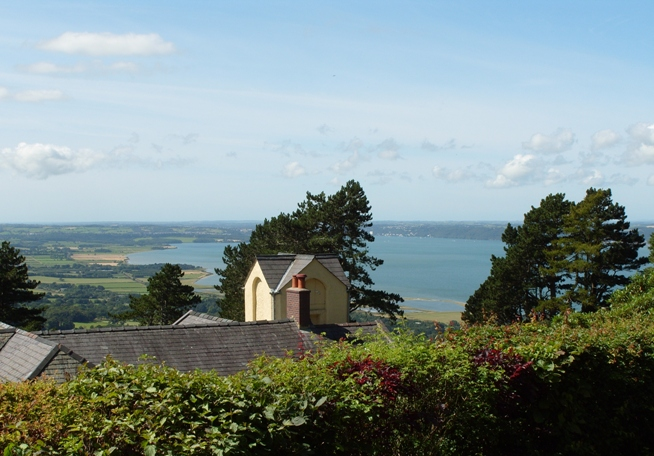 View from cottages